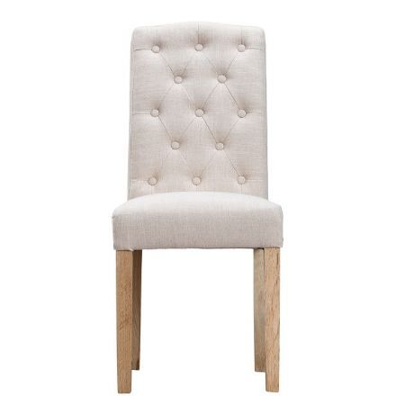 Loire Beige Button Back Upholstered Chair